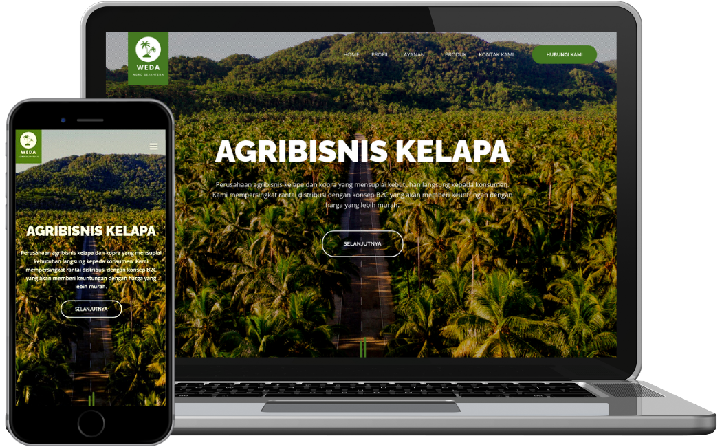website launched pt weda agro sejahtera